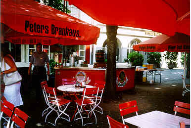 Peters Brauhaus Köln beer garden
