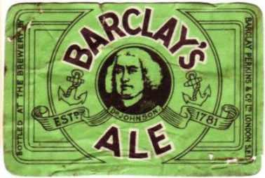 Barclay's Ale label