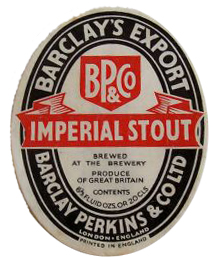 Barclay's Imperial Stout label